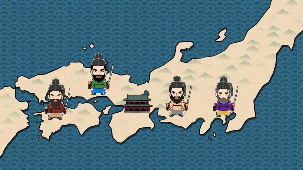 古地図と勢力争い図