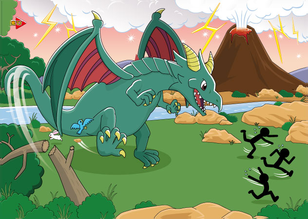 恐竜イラスト
