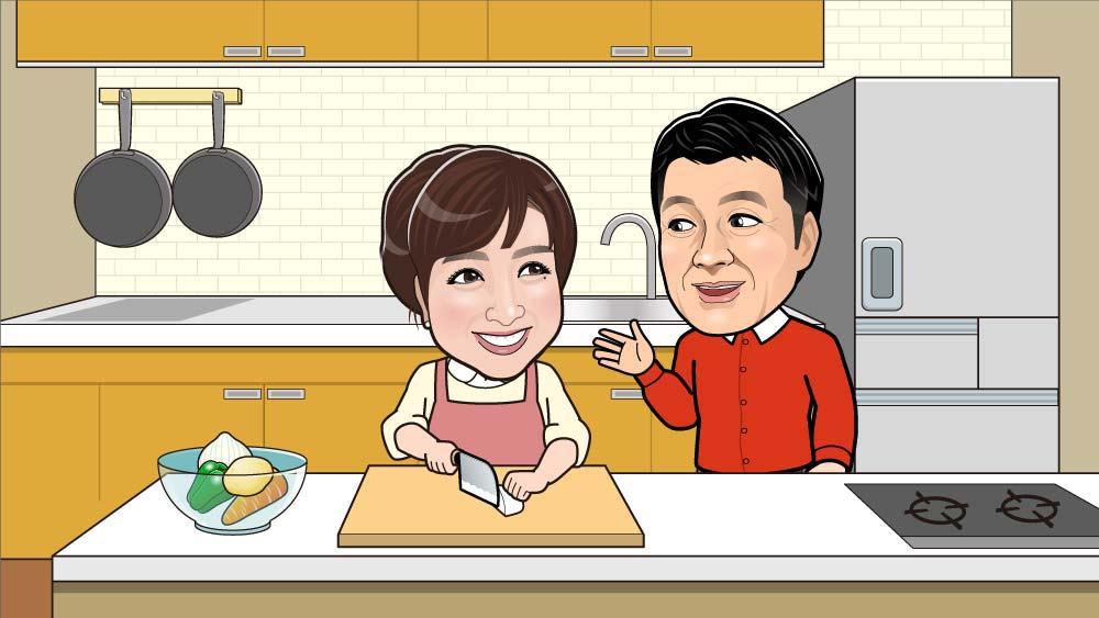 料理中の会話