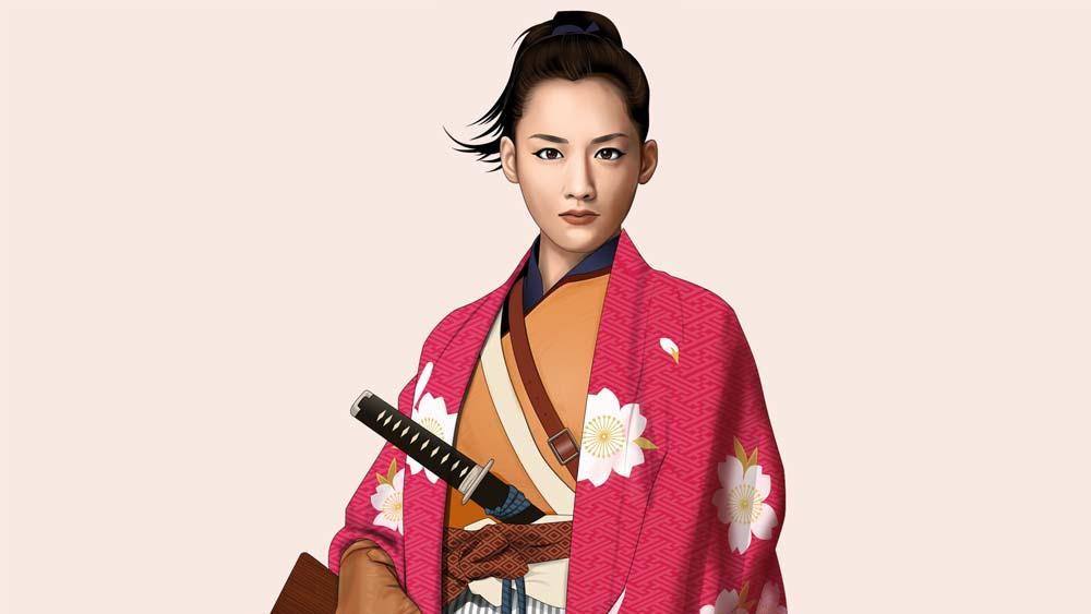 八重の桜イラスト