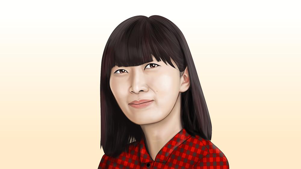 川村エミコさん似顔絵