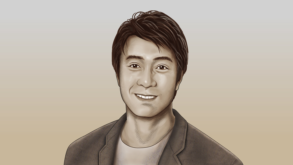 若いときの加藤浩次さん似顔絵