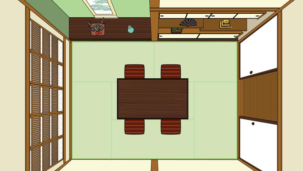 和室を上から見た図