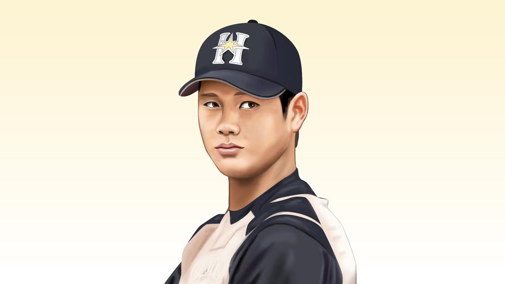 大谷翔平選手の似顔絵