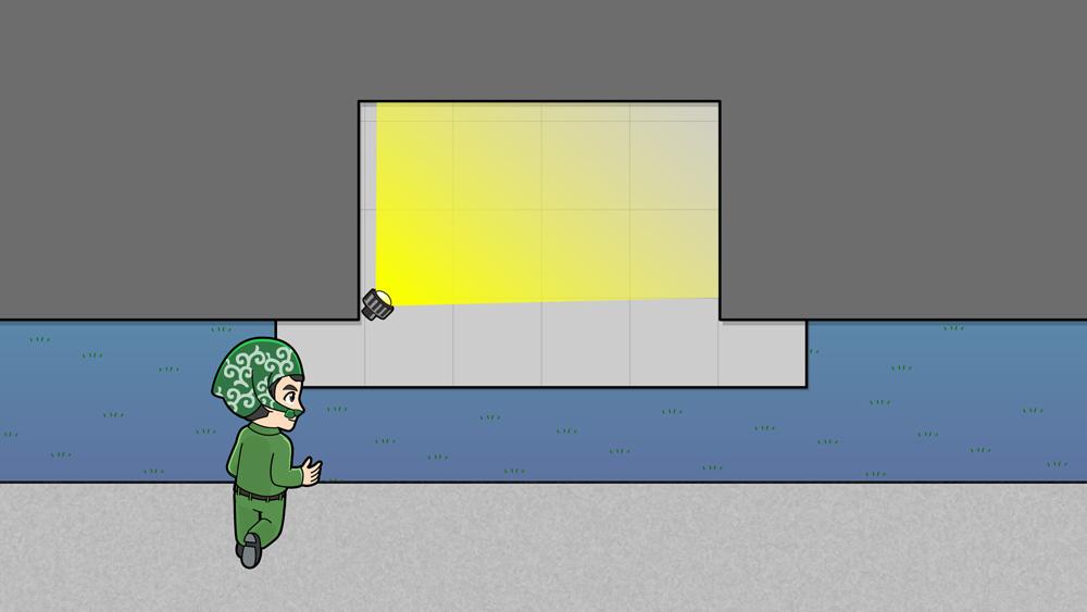 防犯ライト取り付け位置のイラスト2