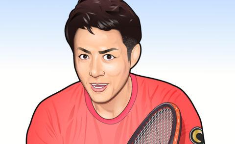 松岡修造さんの似顔絵