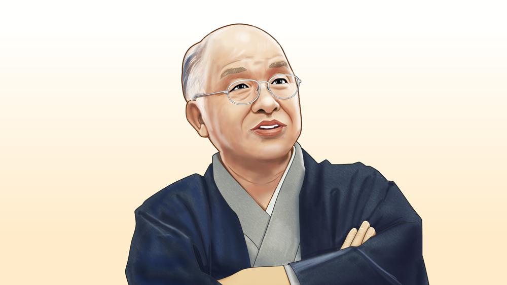 浅田次郎さんの似顔絵