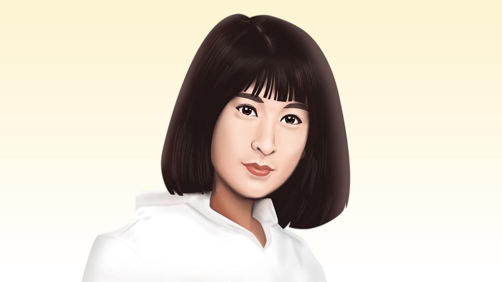 藤圭子さん似顔絵