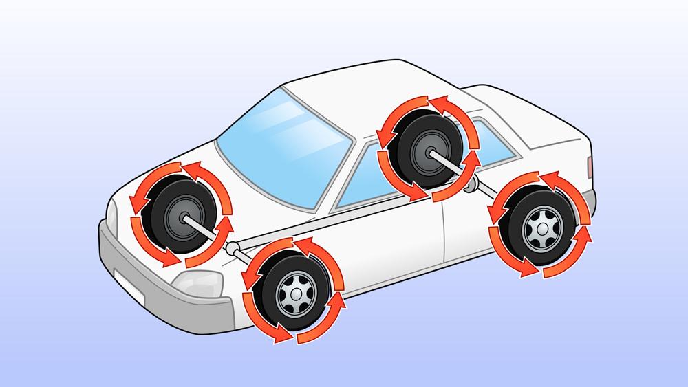 車の構造のイラスト