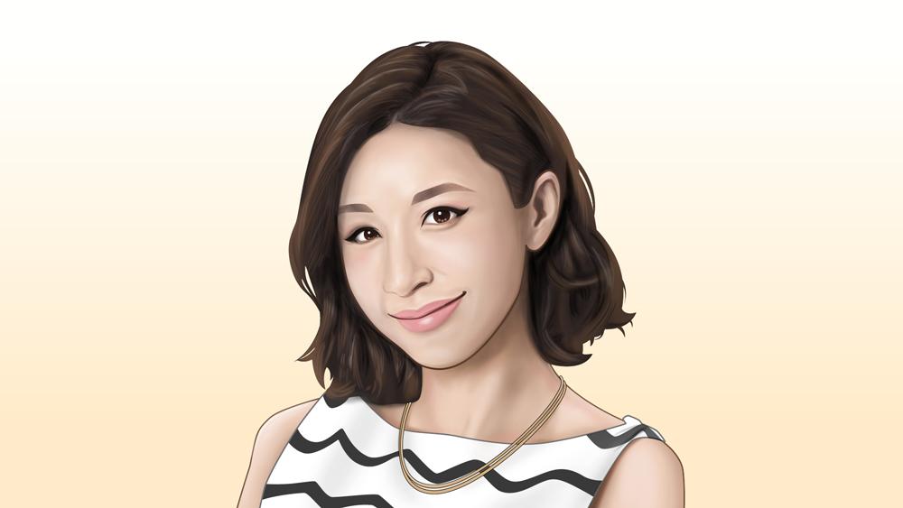 鈴木紗理奈さん似顔絵