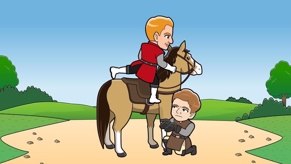 乗馬の方法のイラスト