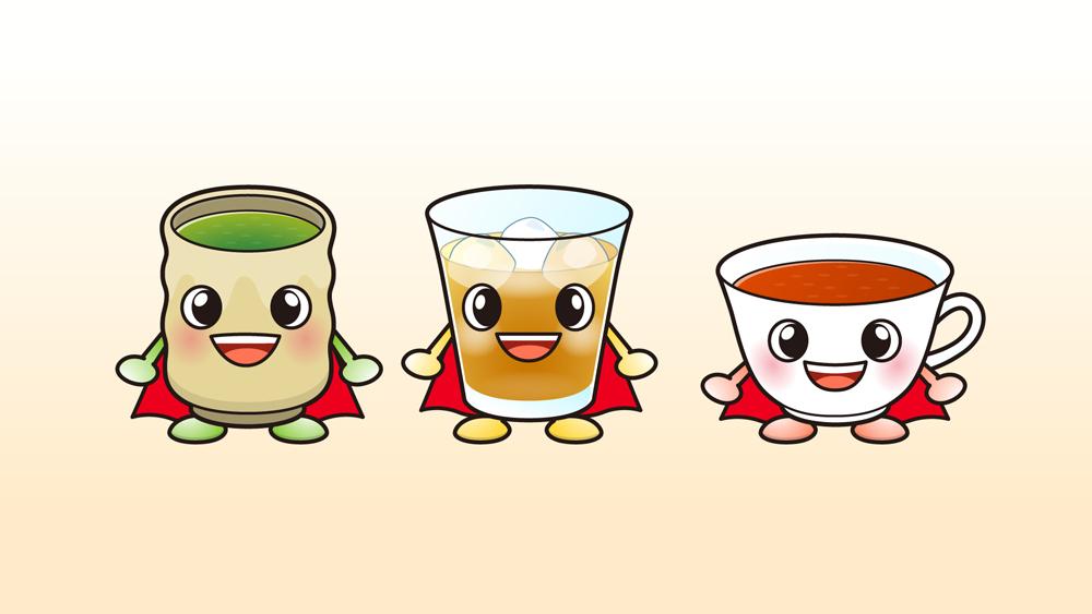 お茶のキャラクターイラスト