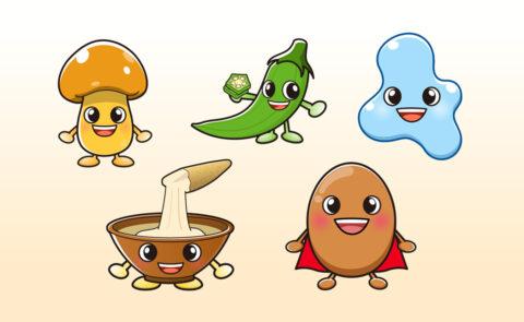 色々な野菜キャラクター