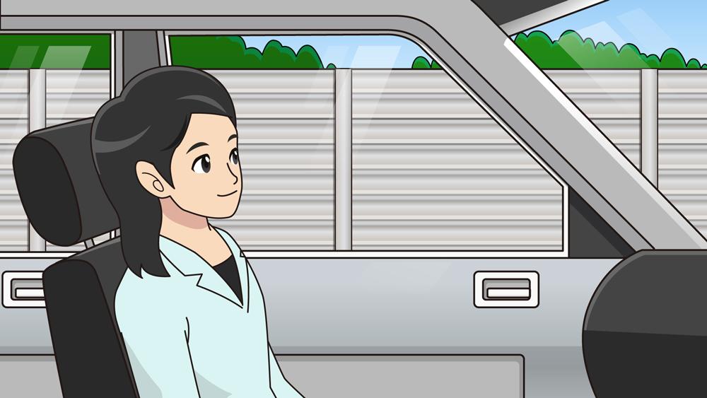 車内のイラスト