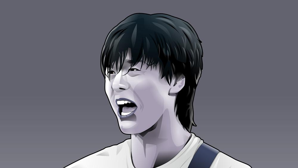 尾崎豊の似顔絵
