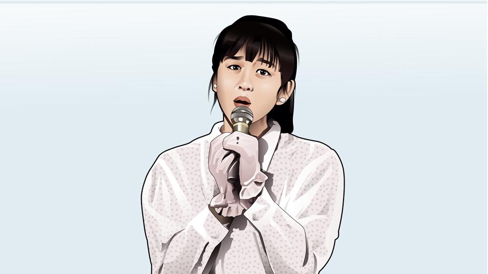 斉藤由貴の似顔絵