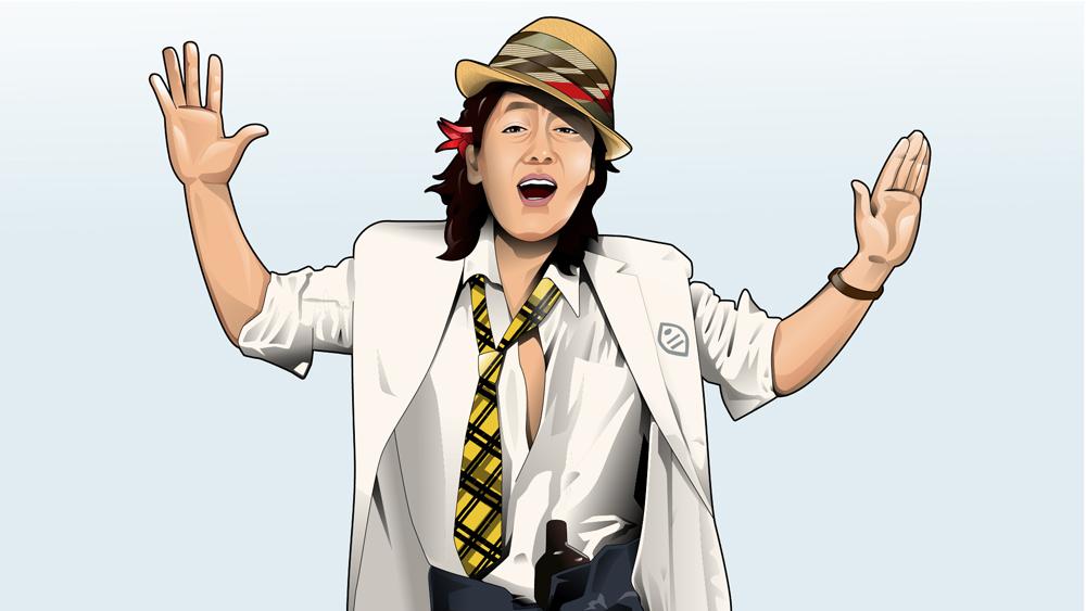 沢田研二さん似顔絵