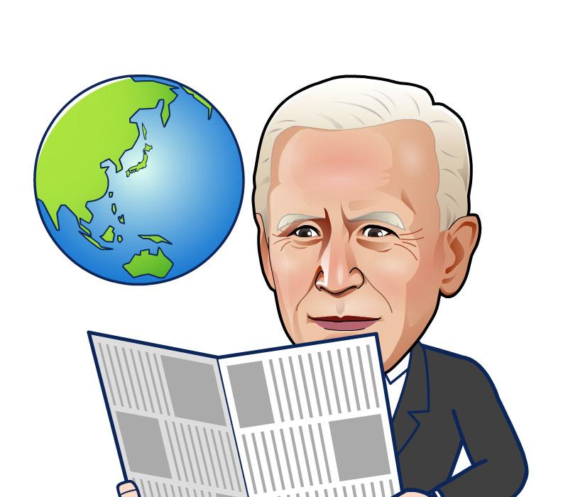 新聞を読むバイデン次期大統領