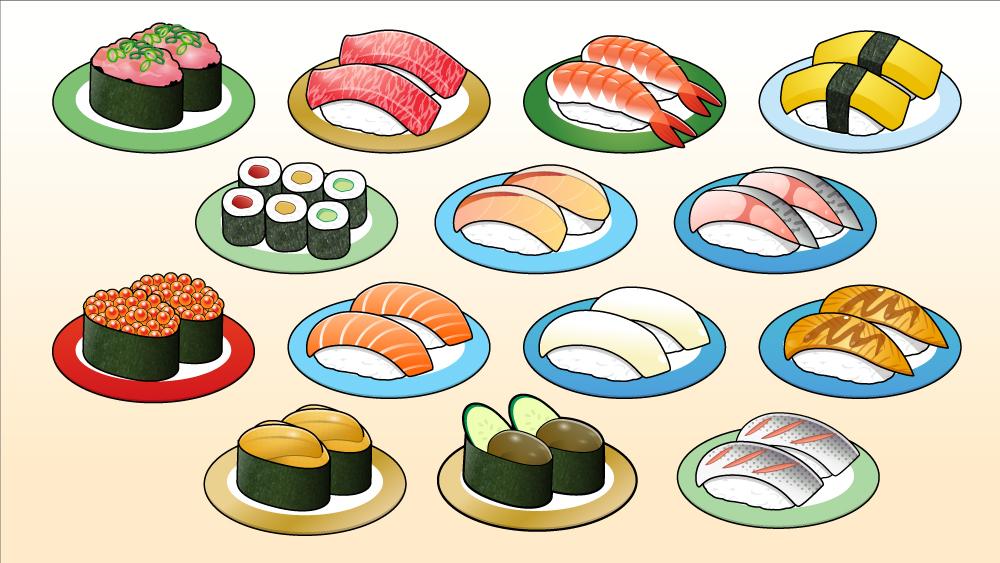 寿司ネタのイラスト