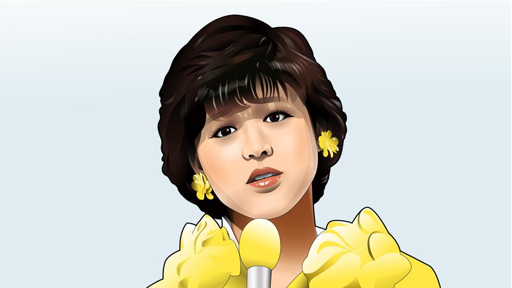 赤いスイートピーを歌う松田聖子さんC