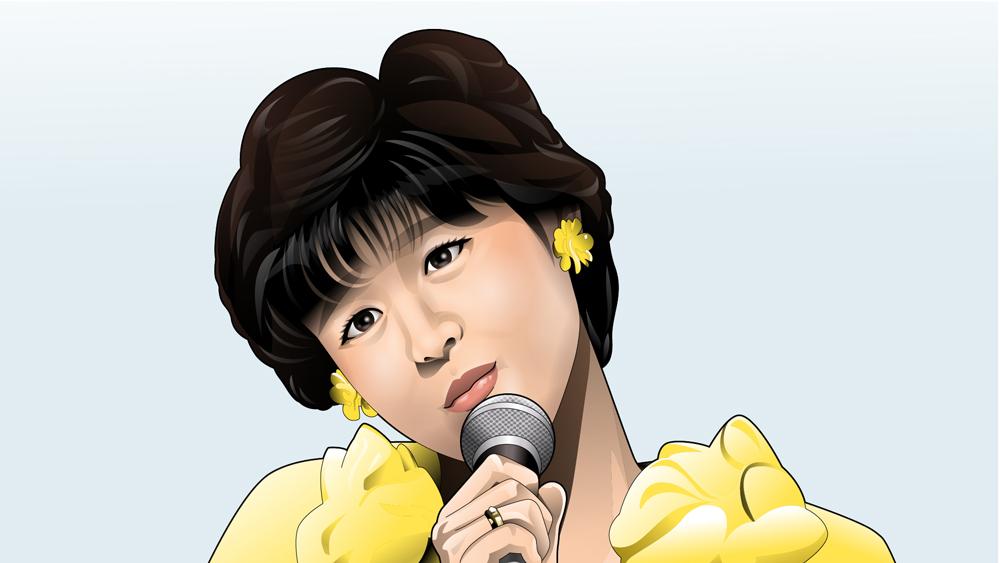 赤いスイートピーを歌う松田聖子さんB