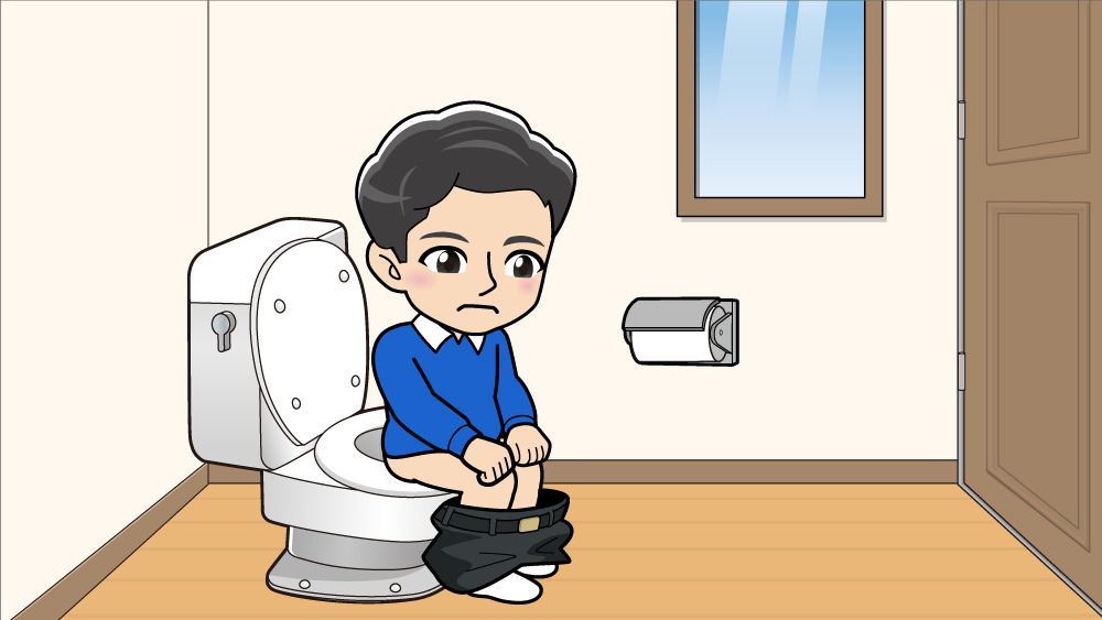 トイレにいる男の子