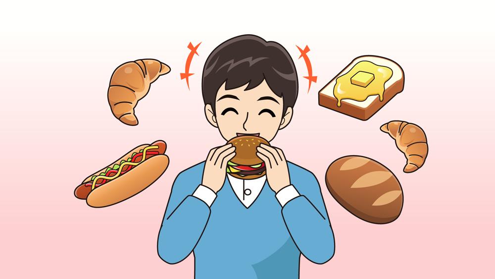 パンをたくさん食べる人