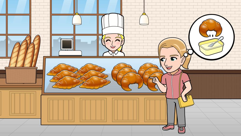 フランスのパン屋でのお話