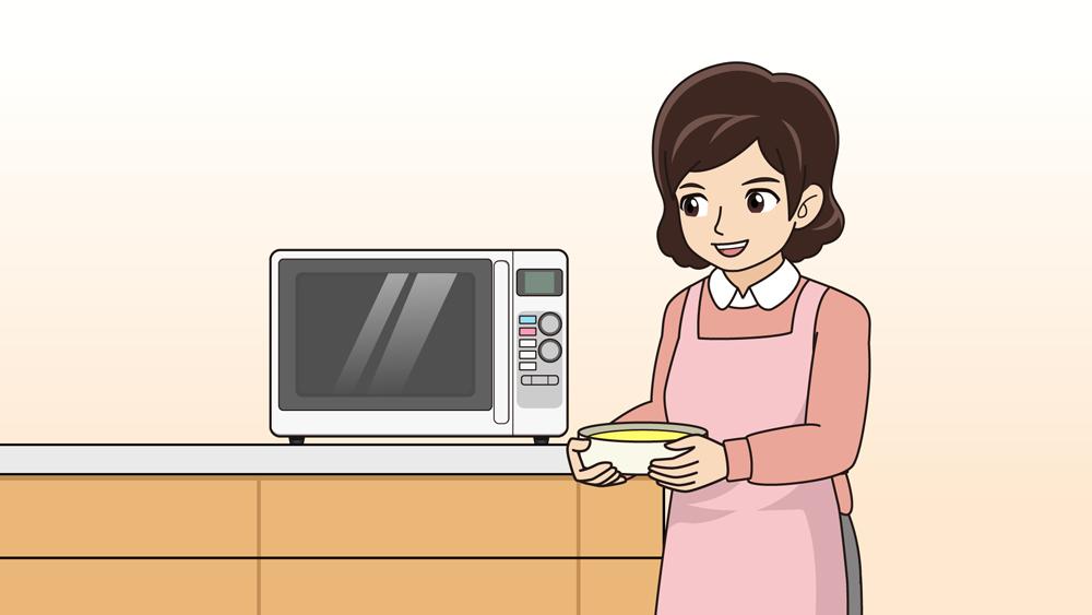 レンジで食べ物を温める