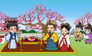 中国貴族の花見