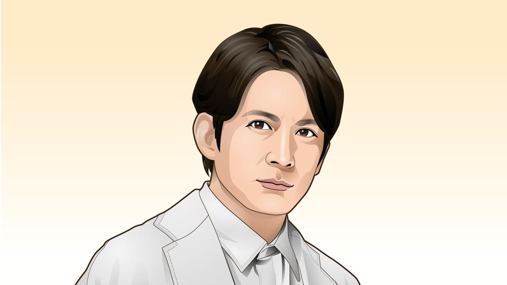 V6岡田准一さんの似顔絵