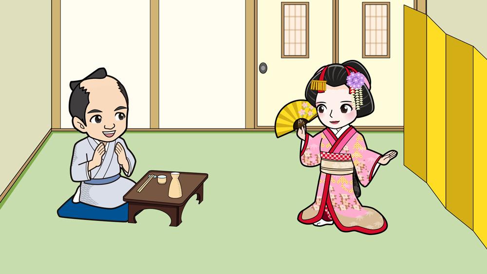 江戸時代に芸者遊びをする人
