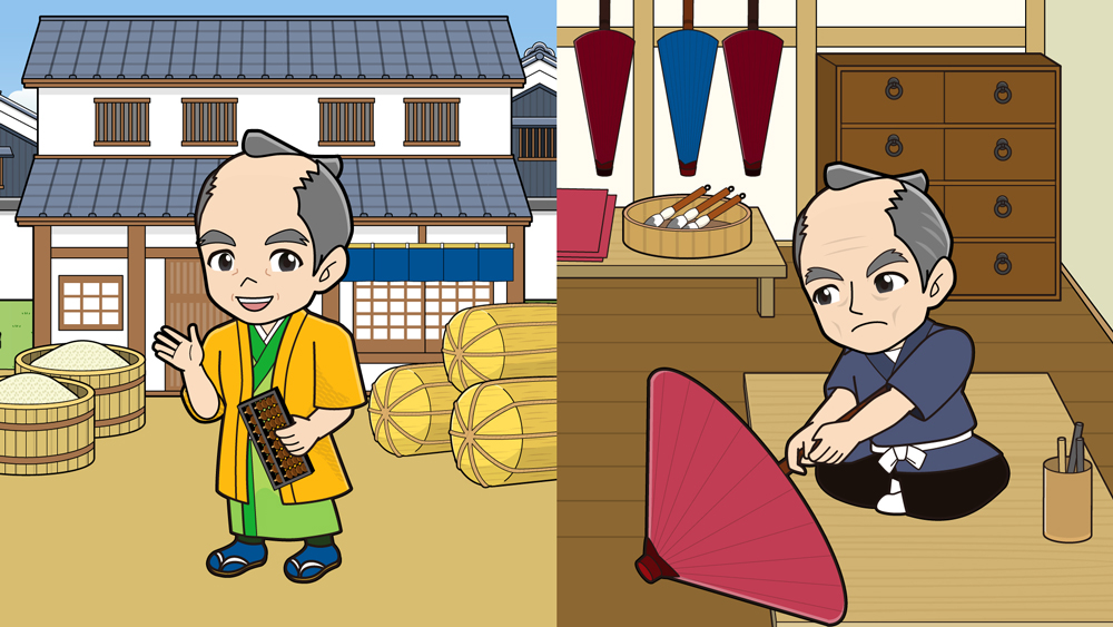 江戸時代の商人と職人