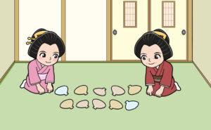 江戸時代の貝合せの遊び