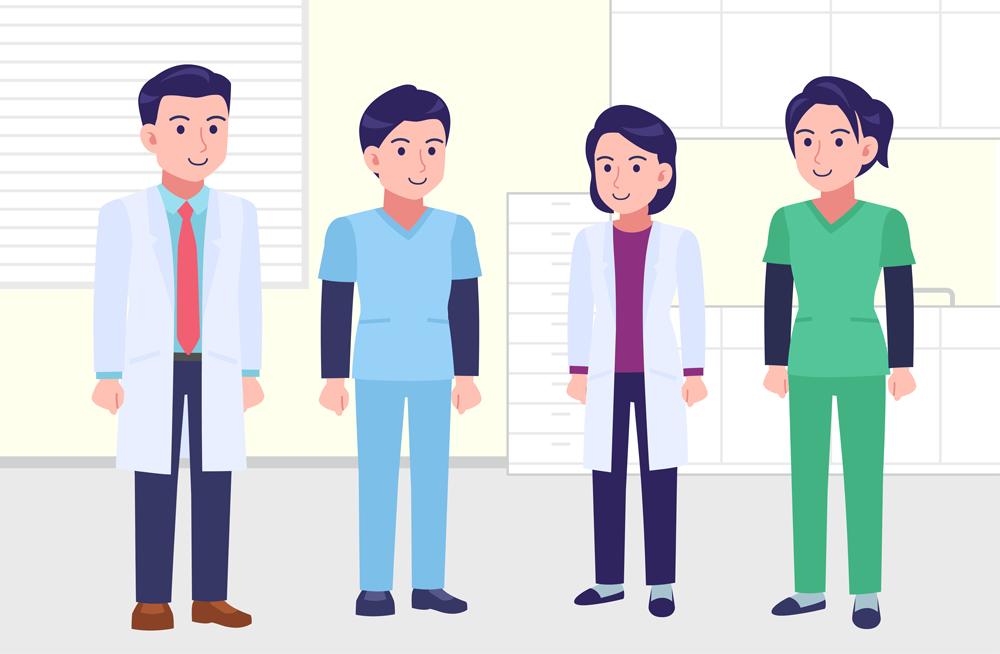 病院で働く人々