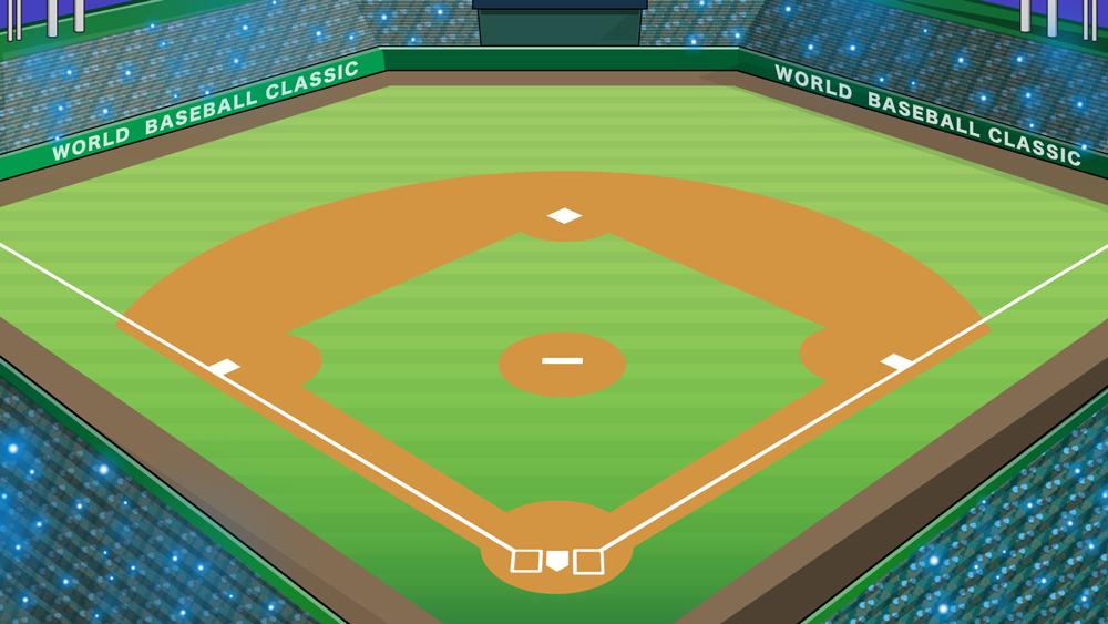 野球スタジアムのイラスト
